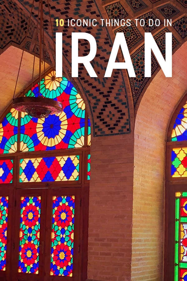 Planning travel to Iran? Here's a list of top things to do in Iran, including all kinds of iconic day trips like visiting the Kalut, seeing a rainbow mosque, Persepolis visits, and more! Click through for a list of some of the best things to do in Iran. #Iran #Travel