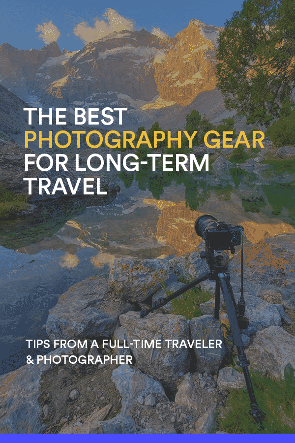 Deciding what photography gear to pack when traveling can be stressful. To help, here are the cameras, lenses, bag, and other accessories I travel with and recommend to other travel photographers. I've perfected this packing list after more than four years of full-time backpacking around the world. Click to find out what I use and recommend.