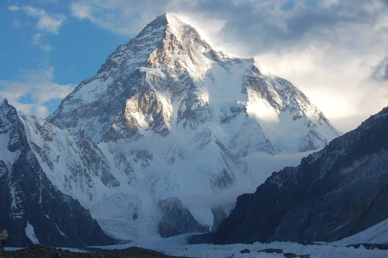 K2 Mountain on the border of China and Pakistan