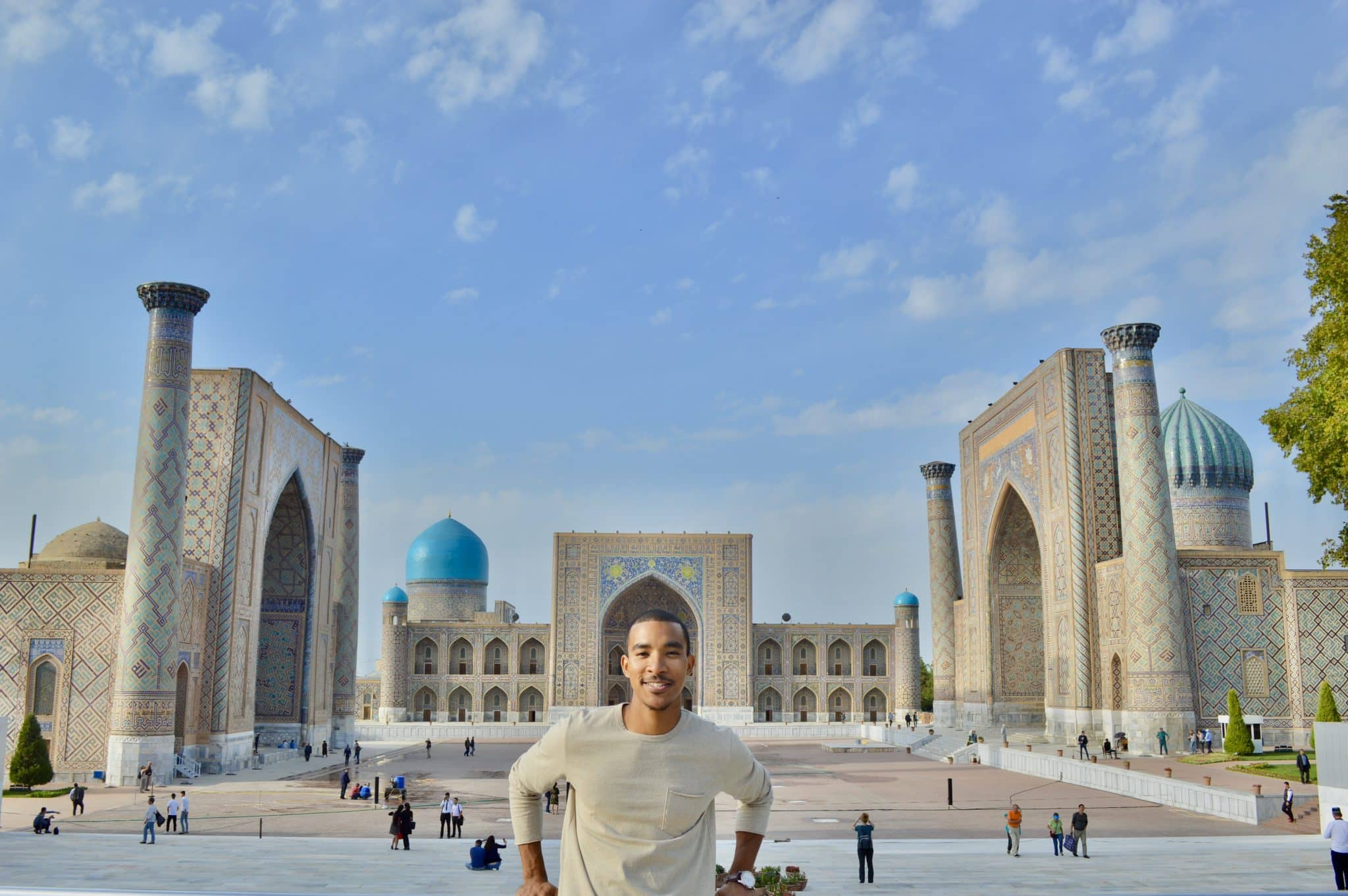 Tyreek, a Black and Asian traveler in Samarkand, Uzbekistan
