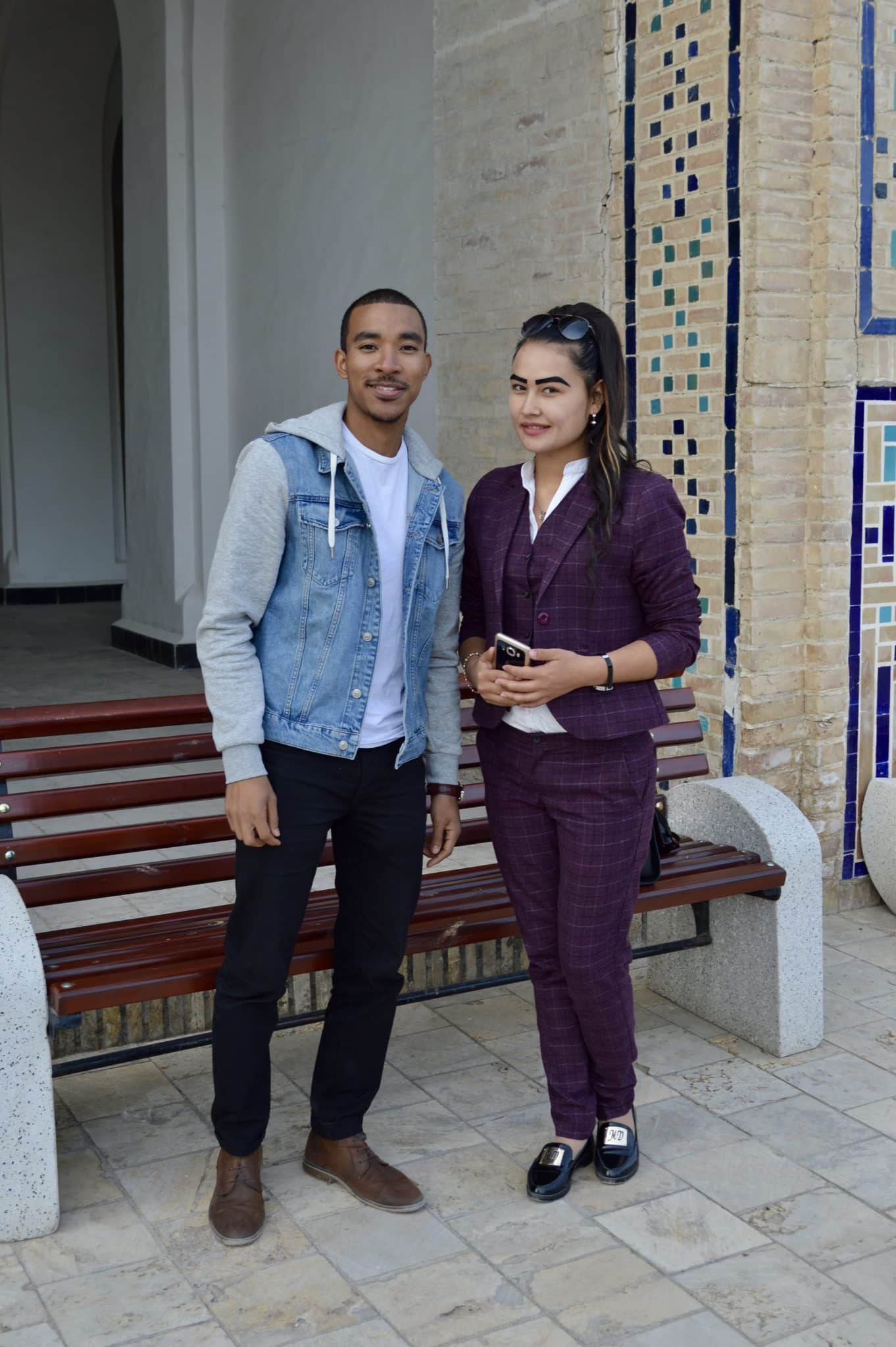 Tyreek with a woman in Uzbekistan