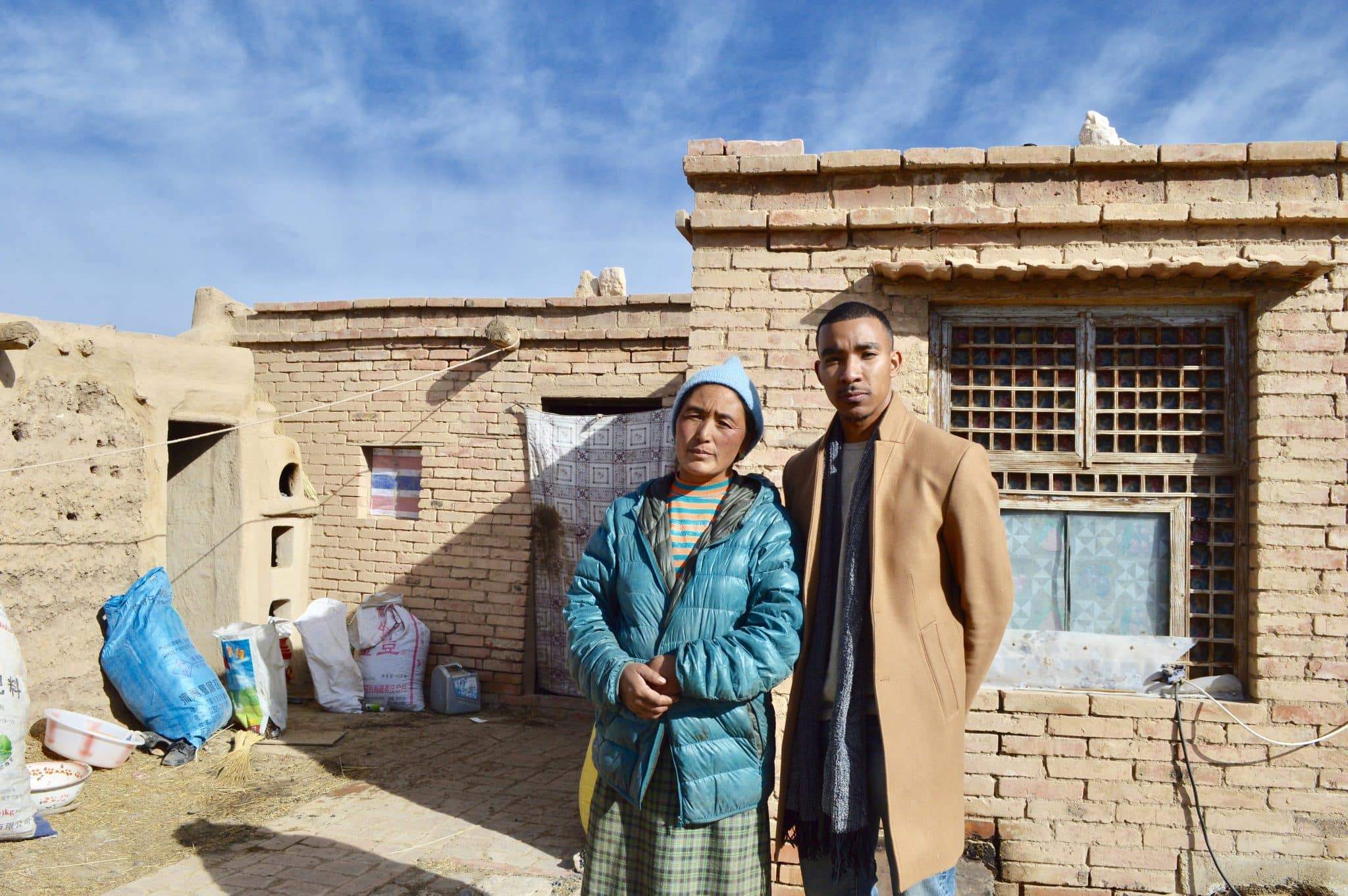 Tyreek with a woman in Central Asia