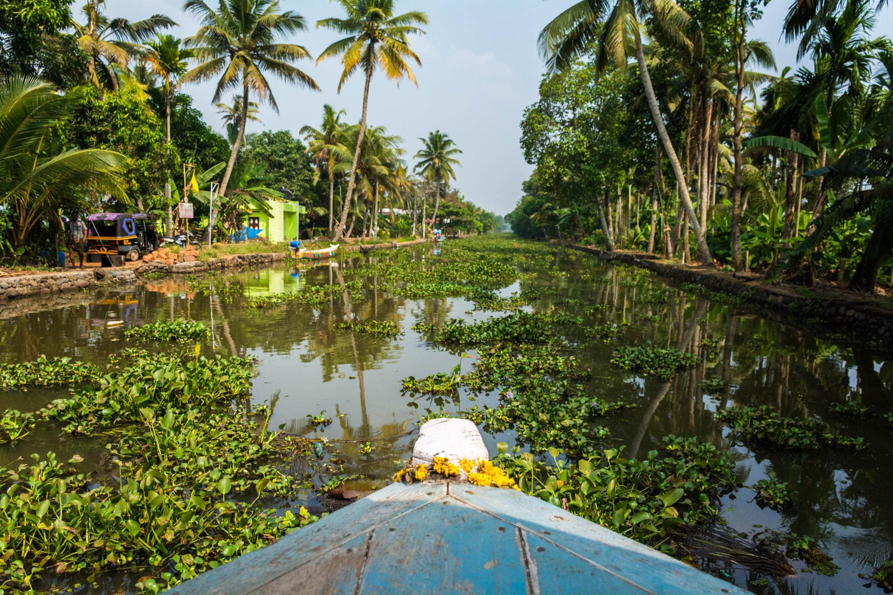 Local ferry in the backwaters of Alleppey, Kerala, India