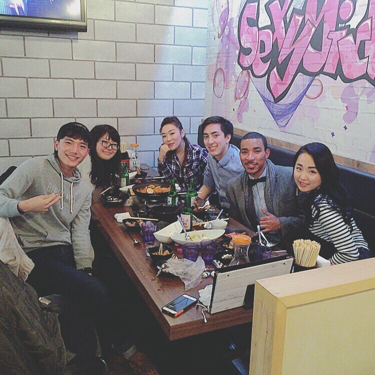 Tyreek with fellow students in Japan