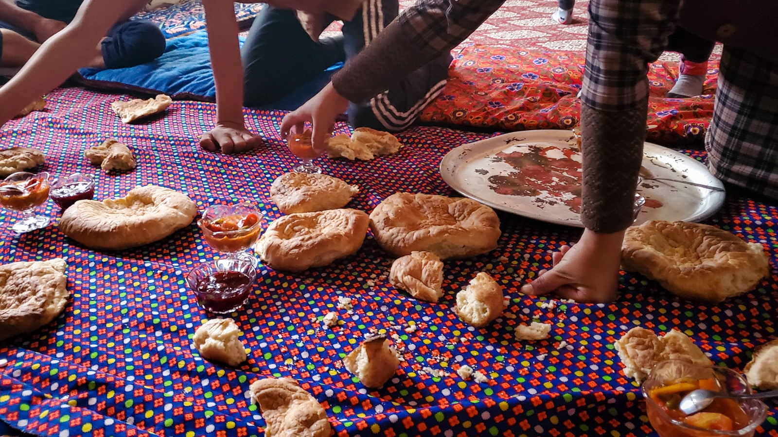 Bread at a local rest stop near Karakul Lake, Tajikistan